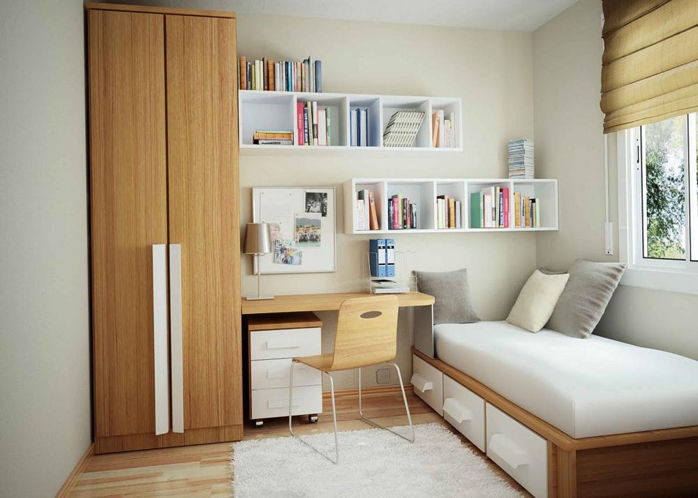 Ảnh: Giải pháp thiết kế nội thất cho phòng ngủ diện tích nhỏ 10