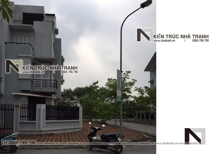 Ảnh: Hiện trạng ban đầu 02 mẫu cải tạo nhà lô góc 2 mặt tiền 4 tầng kiến trúc Pháp NT-L3664