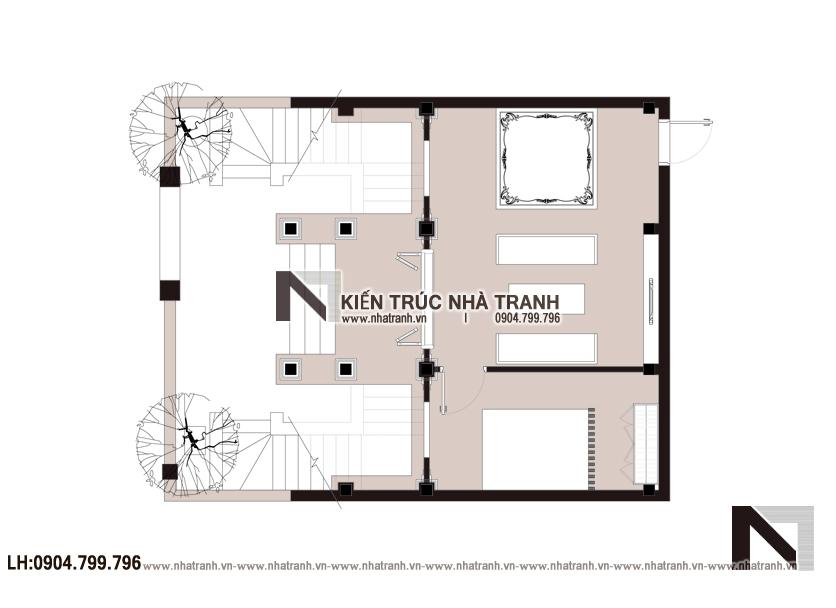 Ảnh: Mặt bằng quy hoạch tổng thể mẫu thiết kế nhà thờ họ 2 tầng NT-B6381