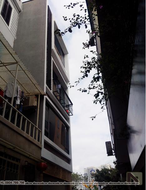 Ảnh: Hình ảnh thi công 01 mẫu nhà lô phố 5 tầng mặt tiền 5m có giếng trời hiện đại NT-L3678