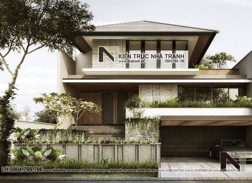 Ảnh: Phối cảnh 3 mẫu biệt thự mái chéo 2 tầng hiện đại.