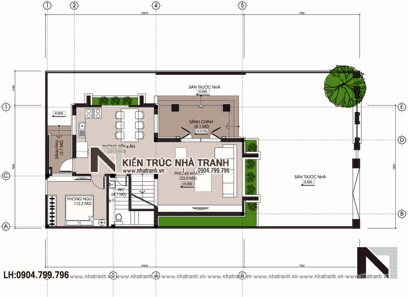 Ảnh: Mặt bằng quy hoạch tổng thể mẫu thiết kế biệt thự vườn 3 tầng mặt tiền 8m mái dốc kiến trúc tân cổ điển Pháp NT-L6387