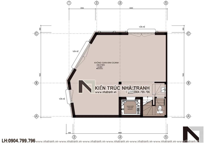 Ảnh: Mặt bằng quy hoạch tổng thể mẫu thiết kế nhà lô góc 3 mặt tiền 6 tầng có thang máy kiến trúc Pháp để ở kết hợp kinh doanh NT-L3683