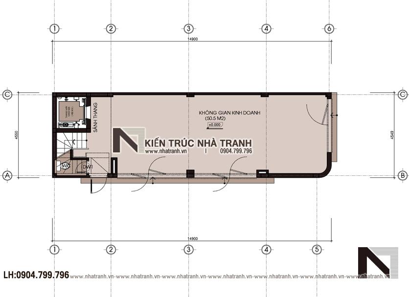 Ảnh: Mặt bằng quy hoạch tổng thể mẫu thiết kế nhà lô góc hiện đại 2 mặt tiền 8 tầng có thang máy để ở kết hợp kinh doanh NT-L3684