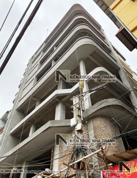 Ảnh: Hình ảnh thi công 03 mẫu thiết kế nhà lô góc hiện đại 2 mặt tiền 8 tầng có thang máy để ở kết hợp kinh doanh NT-L3684