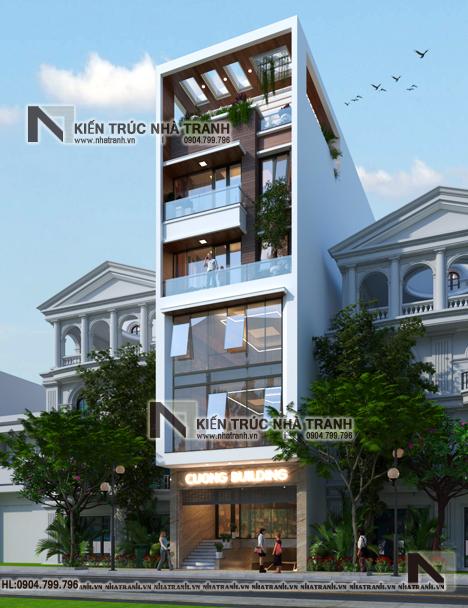 Ảnh: Phối cảnh 02 mẫu thiết kế nhà lô 7 tầng có hầm có thang máy để ở kết hợp kinh doanh NT-L3687