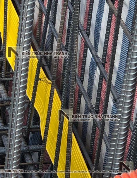 Ảnh: Hình ảnh thi công thực tế 01 mẫu thiết kế nhà lô 7 tầng có hầm có thang máy để ở kết hợp kinh doanh NT-L3687